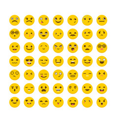set of emoticons avatars big collection with vector image