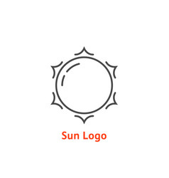 simple thin line sun logo vector image vector image