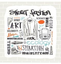Street fashion set vector image vector image