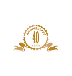 40 years ribbon anniversary vector image