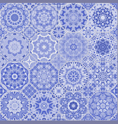 A set of blue tiles vector