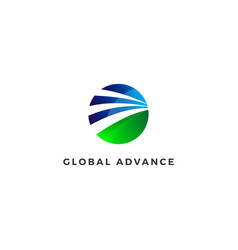 abstract circle company business logo design vector image