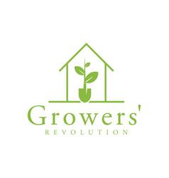 Agriculture logo - farming growing environment vector