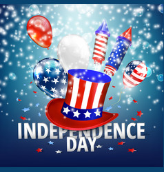 American independence day festive vector