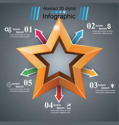 arrows star icons arrows icon vector image
