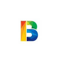 B colorful letter logo icon design vector