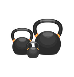 ball-shaped weights for bodybuilding fitness and vector image