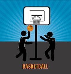Basketball design over blue background vector