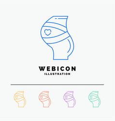 belt safety pregnancy pregnant women 5 color line vector image
