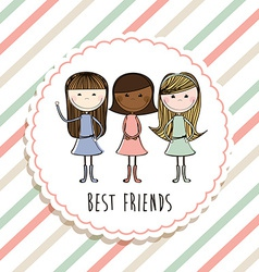 Best friends design vector