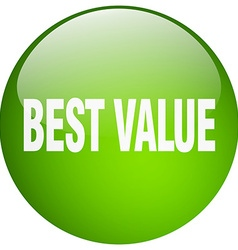 Best value green round gel isolated push button vector