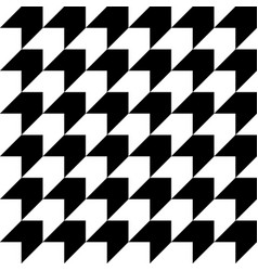 black and white houndstooth seamless pattern vector image