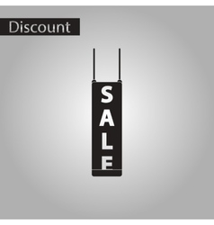 Black and white style icon signboard sale vector