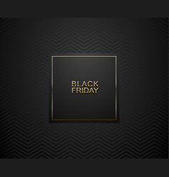 Black friday luxury banner golden text on black vector