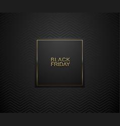 Black friday luxury banner golden text on vector