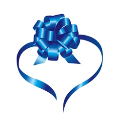 blue ribbon vector image