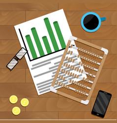 Calculate finance marketing vector