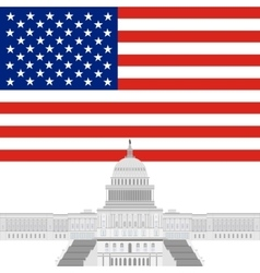 Capitol of the United States vector image