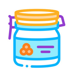 Caviar bottle icon outline vector