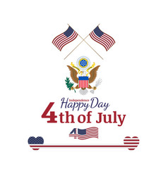 Celebrate happy 4th of july - independence day vector