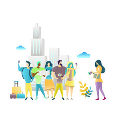 City tour with travel guide vector