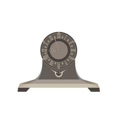 clock time retro alarm watch background vintage vector image
