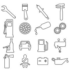 Collection flat icons Car symbols vector