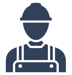 Construction worker icon which can easily vector