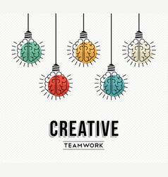 creative teamwork ideas german design concept vector image