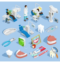 Dentist Icons Set vector