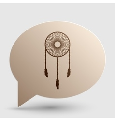 Dream catcher sign Brown gradient icon on bubble vector image