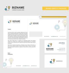 energy power business letterhead envelope and vector image