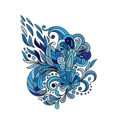 Ethnic floral zentangle doodle background pattern vector