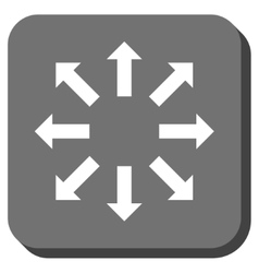 Explode Arrows Rounded Square Icon vector