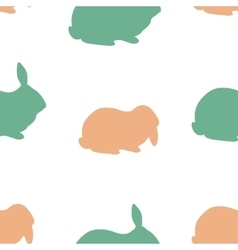 Farm rabbit silhouettes vector image