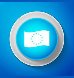 flag of european union icon eu circle symbol vector image