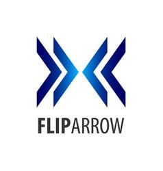 flip arrow logo concept design symbol graphic vector image