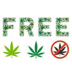 Free label composition of marijuana vector