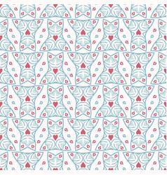 geometric damask hand drawn seamless vector image