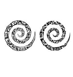 Gothic spirals tattoo vector