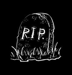grave flat design vector image
