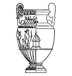 greek vase is a wide-mouthed water jar vintage vector image
