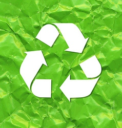 Green Crushed Paper Recycle vector image