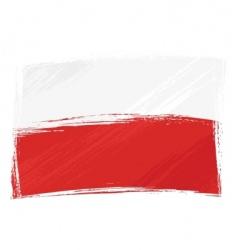 grunge poland flag vector image