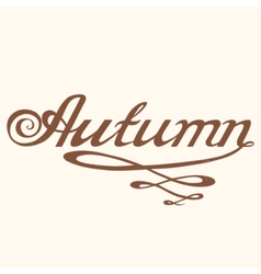 Hand drawn AUTUMN lettering rough typography vector