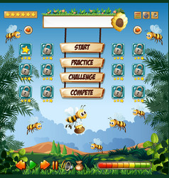 honey bee game template vector image