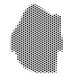 Honeycomb swaziland map vector