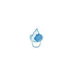 ice cream mono line logo designs inspiration vector image