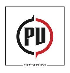 initial letter pv logo template design vector image