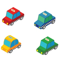 Isometric taxi vector